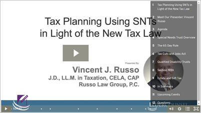 Taxation of Special Needs Trusts in Light of the New Tax Law