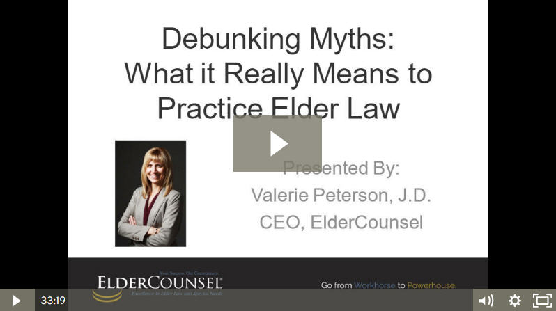 Debunking Elder Law Myths