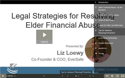 Legal Strategies for Resolving Elder Financial Abuse